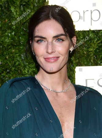 Hilary Rhoda arrives at The Lincoln Center Corporate Fund Fashion Gala honoring Leonard A. Lauder at Alice Tully Hall, in New York