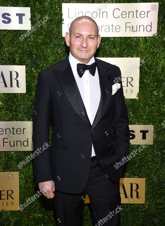 Estee Lauder Companies executive vice president John Demsey arrives at The Lincoln Center Corporate Fund Fashion Gala honoring Leonard A. Lauder at Alice Tully Hall, in New York