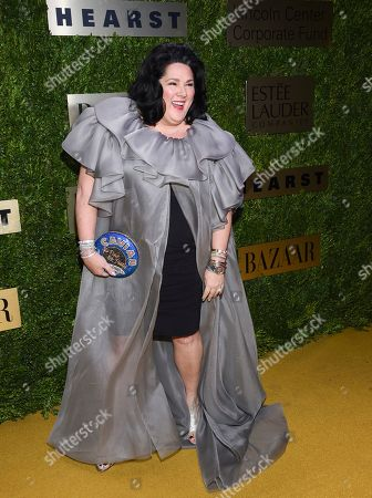Ashley Longshore arrives at The Lincoln Center Corporate Fund Fashion Gala honoring Leonard A. Lauder at Alice Tully Hall, in New York