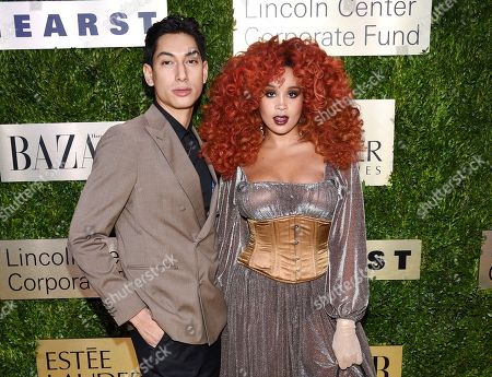 Lucas Goodman, Jillian Hervey. Lucas Goodman and Jillian Hervey of the R&B duo Lion Babe arrive at The Lincoln Center Corporate Fund Fashion Gala honoring Leonard A. Lauder at Alice Tully Hall, in New York