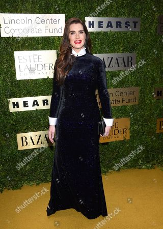 Brooke Shields arrives at The Lincoln Center Corporate Fund Fashion Gala honoring Leonard A. Lauder at Alice Tully Hall, in New York