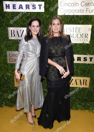 Stock Photo of Jane Lauder, Aerin Lauder. Clinique global brand president Jane Lauder, left, and AERIN founder Aerin Lauder arrive at The Lincoln Center Corporate Fund Fashion Gala honoring Leonard A. Lauder at Alice Tully Hall, in New York