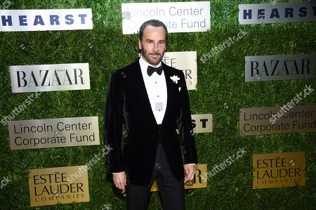 Tom Ford arrives at The Lincoln Center Corporate Fund Fashion Gala honoring Leonard A. Lauder at Alice Tully Hall, in New York