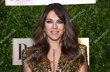 Stock Image of Elizabeth Hurley arrives at The Lincoln Center Corporate Fund Fashion Gala honoring Leonard A. Lauder at Alice Tully Hall, in New York