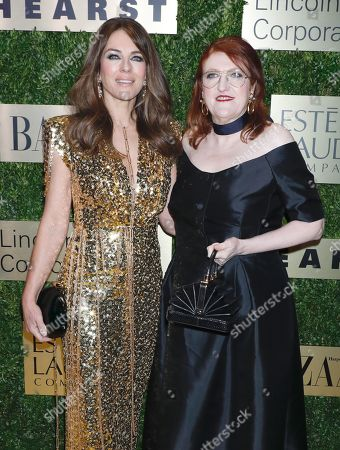 Elizabeth Hurley and Glenda Bailey