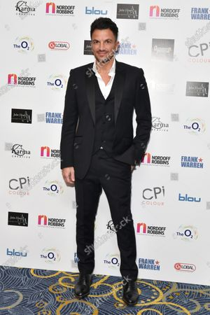 Peter Andre attends the Nordoff Robbins Boxing Dinner in London,