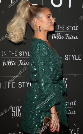 Editorial image of 'In The Style X Billie Faiers' dinner, Arrivals, STK London, UK - 18 Nov 2019