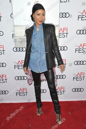 """Jada Pinkett Smith attends 2019 AFI Fest - """"Hala"""" at the TCL Chinese Theatre, in Los Angeles"""