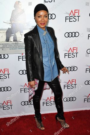 """Jada Pinkett Smith attends 2019 AFI Fest - """"Hala,"""" at the TCL Chinese Theatre, in Los Angeles"""