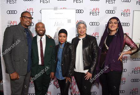 Stock Image of Jamal M. Watson, Seitu Jemel Hart, Jada Pinkett Smith, Jana Babatunde-Bey and Amani Al-Khatahtbeh