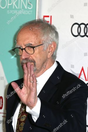 Jonathan Pryce poses on the AFI Fest 2019 red carpet during the premiere of 'The Two Popes' at TCL Chinese Theatre in Hollywood, USA, 18 November 2019. â??The Two Popesâ?? will be released on Netflix on 20 December 2019.