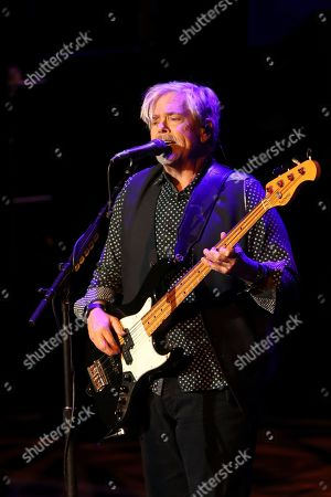 Stock Image of John Cowan of the Doobie Brothers performs at The Doobie Brothers at Ryman Auditorium, in Nashville, Tenn