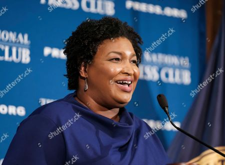 Former Georgia House Democratic Leader Stacey Abrams, speaks at the National Press Club in Washington. Growth and urbanization has made Georgia's population younger, less native to the state and less white. That, combined with President Donald Trump's struggles among previously GOP-leaning white college graduates, has put Georgia on the cusp of presidential battleground status. The question is how close