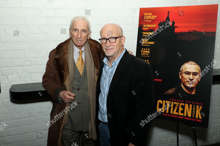 Stock Photo of Gay Talese and Alex Gibney (Filmmaker)