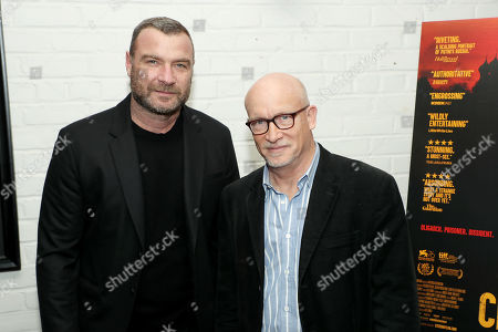 Stock Photo of Liev Schreiber and Alex Gibney (Filmmaker)