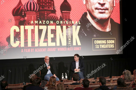 Stock Picture of Alex Gibney (Filmmaker) and Mark Mazzetti (Moderator)