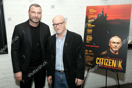 Stock Image of Liev Schreiber and Alex Gibney (Filmmaker)