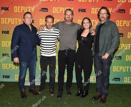 Chris Long, Stephen Dorff, Brian Van Holt, Yara Martinez and David Ayer attend FOX's advanced screening of 'Deputy'