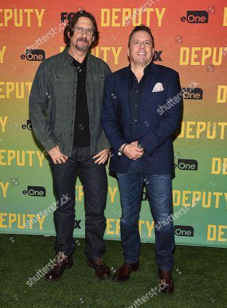 David Ayer and Chris Long attend FOX's advanced screening of 'Deputy'