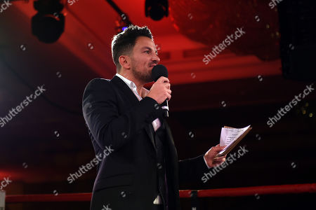 Stock Picture of Peter Andre during the Nordoff Robbins Boxing Dinner at the London Hilton Hotel on 18th November 2019