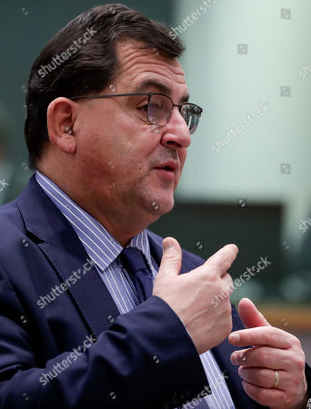 Stock Image of Spanish State Secretary for the European Union Luis Marco Aguiriano Nalda attends during the European General Affairs Council meeting in Brussels, Belgium, 19 November 2019. Preperations for the 12-13 December European Council meeting will be topping the agenda.