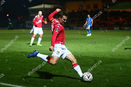 Editorial picture of Rochdale v Wrexham, Emirates FA Cup First Round Replay, Football, Crown Oil Arena, UK - 19 Nov 2019