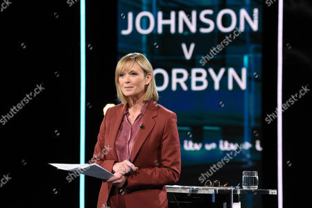 Julie Etchingham during tonight's live debate (Picture available for editorial use only until December 19th 2019)