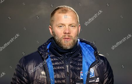 Stock Photo of Eidur Gudjohnsen assistant manager of Iceland