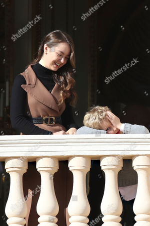 Stock Picture of Princess Charlotte of Hanover, Alexandre Casiraghi. Princess Charlotte of Hanover, left, and Alexandre Casiraghi during the ceremonies marking the National Day in Monaco, Tuesday, Nov.19, 2018