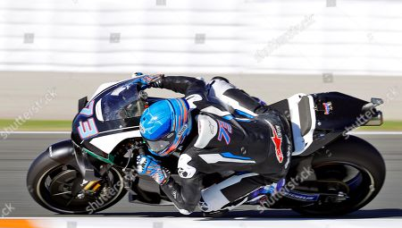 Spanish 2019 Moto2 world champion Alex Marquez of the Repsol Honda Team in action during the post-season official training session at Ricardo Tormo Circuit in Cheste, near Valencia, Spain, 19 November 2019. Alex Marquez joins his brother 2019 MotoGP world champion Marc Marquez of the Repsol Honda Team in the 2020 season, replacing compatriot Jorge Lorenzo becoming the first pair of siblings in the same MotoGP team.