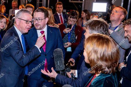 Editorial photo of Johnson v Corbyn: The ITV Debate, Manchester, UK - 19 Nov 2019