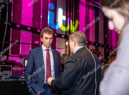 Tom Brake during an interview at tonight's debate in the 'Spin Room' (Picture available for editorial use only until December 19th 2019)