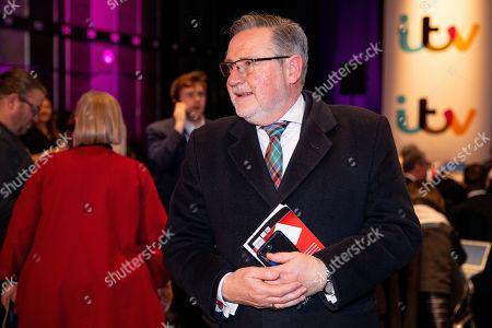 Stock Picture of Barry Gardiner watches tonight's debate in the 'Spin Room' (Picture available for editorial use only until December 19th 2019)