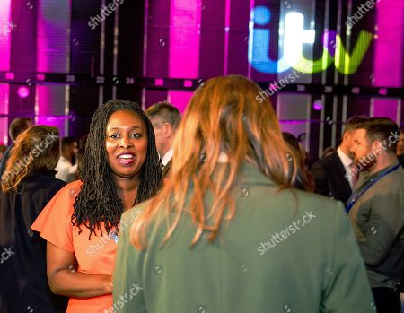 Dawn Butler during an interview at tonight's debate in the 'Spin Room' (Picture available for editorial use only until December 19th 2019)