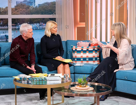 Phillip Schofield, Holly Willoughby with Sally Lindsay