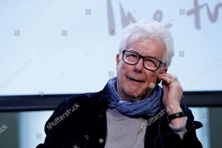 Stock Photo of British writer Ken Follet addresses a press conference within his anti-Brexit 'The Friendship Tour' in Madrid, Spain, 19 November 2019. This pro-European tour, led by famous authors such as Jojo Moyes, Kate Mosse, Ken Follet and Lee Child, runs from 17 to 25 November 2019.