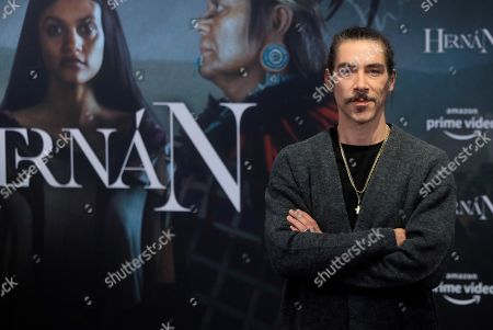 Stock Photo of Oscar Jaenada poses during the presentation of Amazon Prime Video's new series 'Hernan', in Madrid, Spain, 19 November 2019. Amazon's new production tells the adventures of Spanish conqueror Hernan Cortes, who led the expedition that caused the fall of the Aztec Empire, and will be released on 21 November.