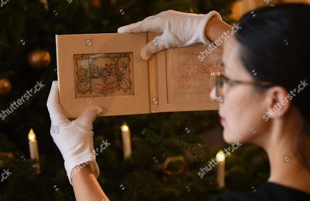 Editorial image of World's first Christmas Card, London, United Kingdom - 19 Nov 2019