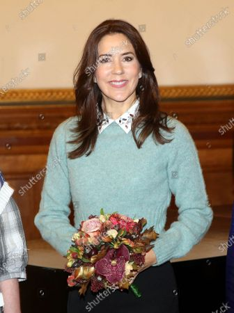 Crown Princess Mary attends a charity art competition for people with mental disorders as patron for SIND and for the Psychiatry foundation.