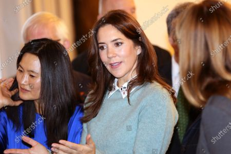 Editorial picture of Crown Princess Mary attends a charity art competition, Copenhagen, Denmark - 18 Nov 2019