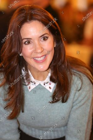Editorial image of Crown Princess Mary attends a charity art competition, Copenhagen, Denmark - 18 Nov 2019