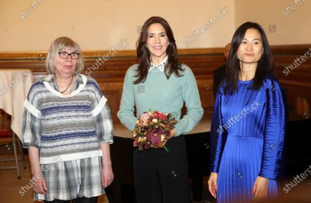 Editorial photo of Crown Princess Mary attends a charity art competition, Copenhagen, Denmark - 18 Nov 2019