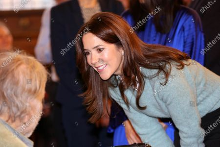 Stock Image of Crown Princess Mary attends a charity art competition for people with mental disorders as patron for SIND and for the Psychiatry foundation.
