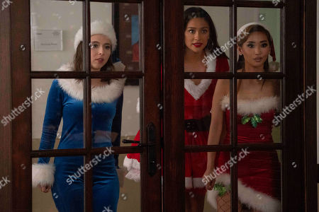 Esther Povitsky as Izzy Levine, Shay Mitchell as Stella Cole and Brenda Song as Madison Maxwell