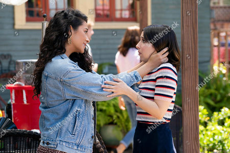 Shay Mitchell as Stella Cole and Esther Povitsky as Izzy Levine
