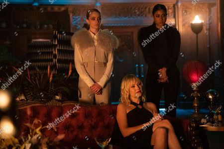 Stock Photo of Brianne Howey as Alison B, Malin Akerman as Celeste and Vella Lovell as Alison S