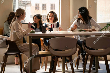 Stock Picture of Brianne Howey as Alison B, Esther Povitsky as Izzy Levine and Vella Lovell as Alison S