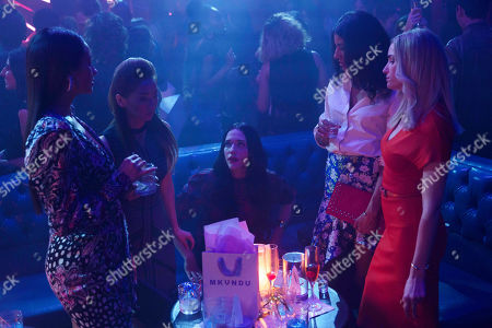 Stock Picture of Shay Mitchell as Stella Cole, Brenda Song as Madison Maxwell, Kat Dennings as Jules Wiley, Vella Lovell as Alison S and Brianne Howey as Alison B