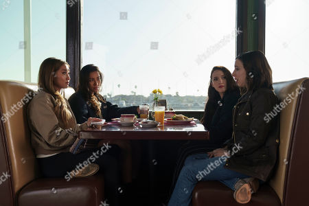 Brenda Song as Madison Maxwell, Shay Mitchell as Stella Cole, Kat Dennings as Jules Wiley and Esther Povitsky as Izzy Levine