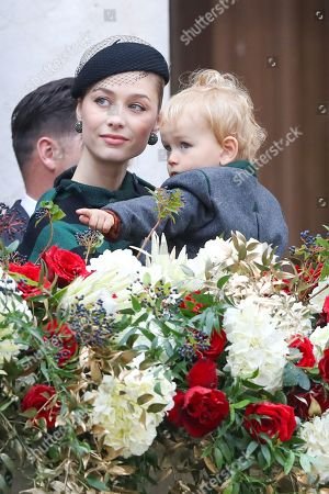 Stock Photo of Beatrice Borromeo and son Francesco